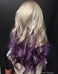 50 Cool Ideas of Lavender Ombre Hair and Purple Ombre - Ombre Hair - Hair Designs Long Ombre Hair, Blond Ombre, Platinum Blonde Ombre, Reverse Ombre Hair, Long Purple Hair, Purple Ombre, Hair Color Purple, Ombre Color, Hair Colors