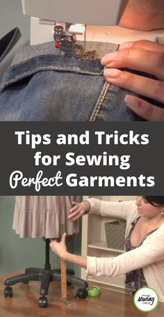 Tips and Tricks for Sewing Perfect Garments - ::: DIY Szycie / Nähen ::: - Easy Sewing Sewing Hacks, Sewing Tutorials, Sewing Crafts, Sewing Tips, Sewing Ideas, Sewing Basics, Tips And Tricks, Love Sewing, Basic Sewing