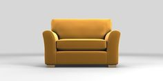 Buy Michigan Snuggle Seat (2 Seats) Matt Velvet Mustard Slim Block - Light from the Next UK online shop