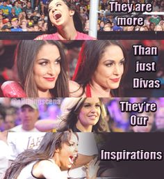 My favs the top one. Queen > everyone. But then again I do love the Bellas and Kaitlyn but I still love AJ more!!!