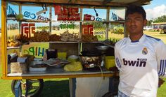 Negombo beach food stall in Sri Lanka #srilanka #food #streetfood #travel #travelphotography