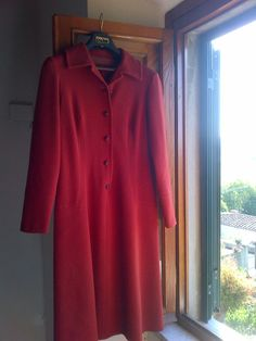 60's Red Dress by WhitleyBay on Etsy
