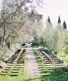 Ceremony Inspiration: Look for naturally forming arches from trees, rose gardens & twisting pathways...