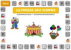 La course aux clowns - Astuces d'une instit en maternelle Video Games Funny, Funny Games, Theme Carnaval, Video Game Logos, Kindergarten, Clowns, Beautiful Fairies, Brain Teasers, Mardi Gras