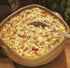 This Macaroni Chicken Bake-Ahead Casserole is a wholesome, simple dish that can be made a day ahead of time.  It's a truly excellent chicken pasta casserole, stuffed with easy, delicious ingredients like celery, parsley, and egg. With your busy sched
