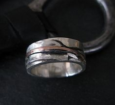 The design of this unique band is Sedona and the San Francisco peaks. I used layers of silver, yellow and red gold to depict this beautiful scenery. It is a size 7 1/2 and there is only 1 available. Please convo us if you would like a similar ring made in your size.  You receive your ring in a gift box with a Hot Rox pouch. A generous percentage of this sale is donated to Our House of Hope K-9 Rescue in Libertyville, Illinois.  Design Specifications .925 Sterling silver 8mm wide 14K rose…