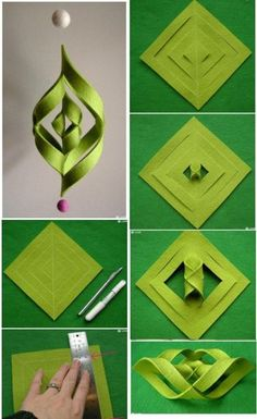 New origami diy step by step how to make 24 ideas Origami Diy, Origami And Kirigami, Origami Tutorial, Diy Tutorial, Origami Instructions, Origami Lamp, Origami Paper Art, Ornament Tutorial, Origami Design