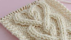 How to Knit a Cable Heart | Free Knitting Pattern + Video Tutorial by Studio Knit