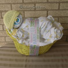 Premium Yellow Napping Baby BasketTM by 1cupCotton on Etsy, $50.00