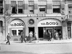 1956 warenhuis van den Borg tijdelijke vestiging in de Van welderenstraat