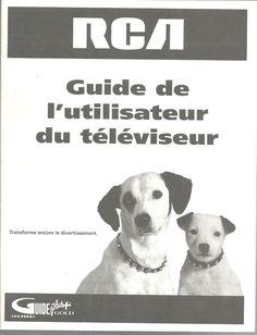 Instruction Manual French RCA VCR Thomson Multimedia L'utilisateur Televiseur #RCA
