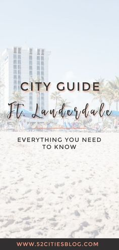 Planning a trip to Florida? Check out this guide to Fort Lauderdale excursions and where to eat, stay and play in the city. Visit Florida, Florida Travel, Florida Beaches, Fort Lauderdale Things To Do, Fort Lauderdale Beach, Zermatt, Free Travel, Travel Usa, Dublin