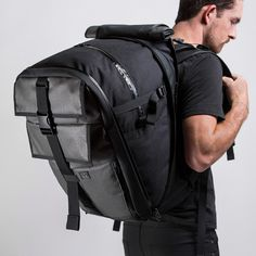 The Vandal by Mission Workshop - Weatherproof Bags & Technical Apparel - San Francisco & Los Angeles - Built to endure - Guaranteed forever Sling Backpack, Leather Backpack, Leather Bag, Mission Workshop, Edc Bag, Fashion Bags, Mens Fashion, Laptop Storage, Backpack With Wheels