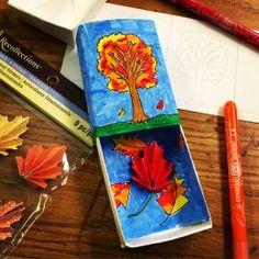 Fall Leaf Matchbox Art