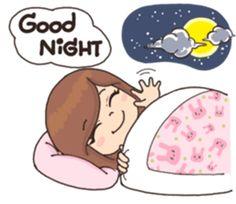 Good Night Love You, Good Night Funny, Good Night Love Quotes, Kawaii Stickers, Love Stickers, Cartoon Memes, Cartoon Pics, Good Night Massage, Chats Image