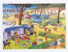 Camping - describe a photo with a partner