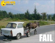 Horse And Car Buggy - http://lol4eva.com/funny/horse-and-car-buggy/