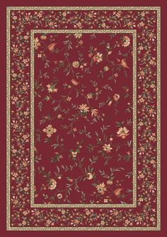 Pastiche Hampshire Floral Rust Milliken Rug (0238)