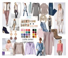 """""""Lichte zomer/ Light summer color type"""" by roorda on Polyvore featuring mode, Mulberry, Ted Baker, Hahn en Jimmy Choo"""