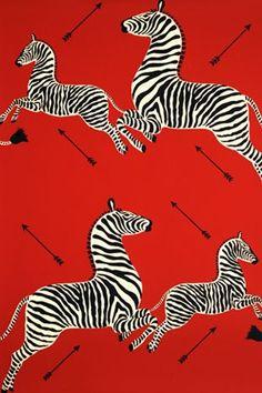 Iconic zebra print by Scalamandré (Tenebaum - Wes Anderson movie)