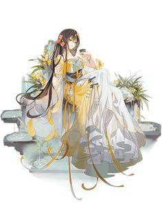 Manga Girl, Anime Art Girl, Manga Anime, Food Fantasy, Fantasy Art, Fantasy Character Design, Character Art, Fantasy Characters, Anime Characters