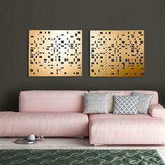 Modern Room Decor, Modern Bedroom, Home Decor, Wall Decor Set, Metal Wall Decor, Gold Walls, Metal Walls, Geometric Wall Art, Contemporary Wall Art