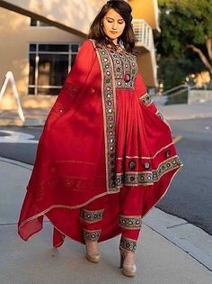 Afghan Clothes, Afghan Dresses, Neck Designs For Suits, Designs For Dresses, Muslim Fashion, Indian Fashion, Dotti Dresses, Balochi Dress, Queen Dress