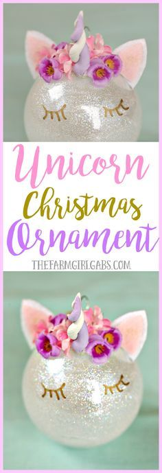 This magical Unicorn Christmas Ornament is an easy DIY ornament to make for your Christmas tree this year! This magical Unicorn Christmas Ornament is an easy DIY ornament to make for your Christmas tree this year! Unicorn Christmas Ornament, Unicorn Ornaments, Noel Christmas, Diy Christmas Ornaments, Homemade Christmas, Christmas Projects, Holiday Crafts, Christmas Ideas, Diy Crafts For Christmas