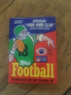 1 wax pack of 1987 Topps Football Wax Packs - Guaranteed Authentic Display Case, Bubble Gum, My Ebay, Wax, Bubbles, Packing, Football, Shape, Cards