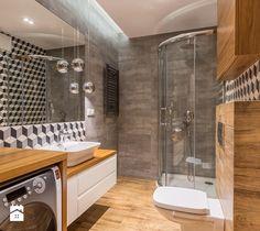 Mieszkanie Warszawa, Sadyba - Średnia łazienka w bloku w domu jednorodzinnym bez okna, styl nowoczesny - zdjęcie od Kameleon - Kreatywne Studio Projektowania Wnętrz