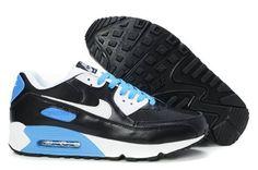 Remise authentique Nike Air Max 90-2 Homme Chaussures Noir/Blanche/Bleu France Boutique En Ligne