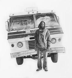 Hazards May Be Present - TJ. An Exploration of Humanity Through Pencil Drawings. By Joel Daniel Phillips.
