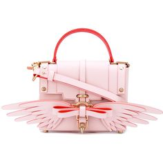 0fbd1af77f23 Niels Peeraer Small Wings tote ($681) ❤ liked on Polyvore featuring bags,  handbags, tote bags, pink, pink tote, leather tote bags, pink leather  purse, ...
