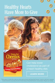 Discover the ingredients that help make Cheerios a great breakfast option. When you eat Cheerios, you do your heart some good. Heart Diet, Heart Healthy Diet, Heart Healthy Recipes, Cheerios Cereal, Honey Nut Cheerios, Free Coupons By Mail, New Things To Try, Oats Recipes, Make Happy