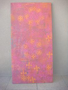 tela Violet Golden em pintura acrilica e tecnica mista  2010  - 70x150 - acrylic on canvas - Melina Ollandezos