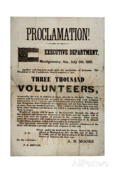 Recruitment Broadside Requesting Three Thousand Volunteers, 9 July 1861 Giclee Print