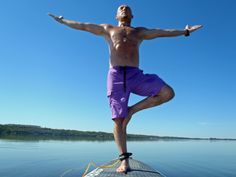 Yoga on my Stand Up Paddle Board...Pelican Lake, Mb, Ca Fellow Paddle board lover