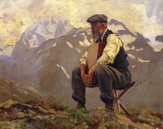 """""""Reconnoitering"""" 1911 oil painting by John Singer Sargent. The art of matching from The Painter's Keys blog"""