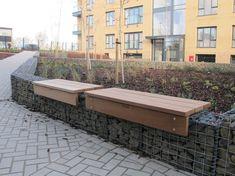 Lapa gabion bench platforms - 3-slats deep LPA 3B 1200 (special) & LPA 3B 3