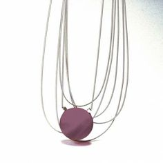 Fulvia Notari Dolo, Italy Mireille Necklace with one unique blown glass bead of Murano and steel springs.  It's available in a large range of colours of glass bright ...