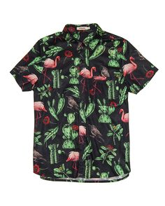 Flamingo Shirt Black Reissue | PYRAMID BRAND