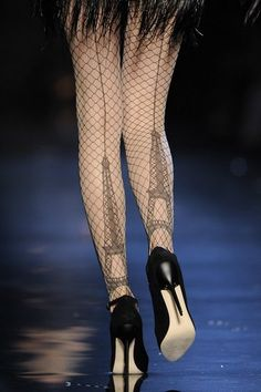 Eiffel Tower tights. Nothing is as glam as paris!