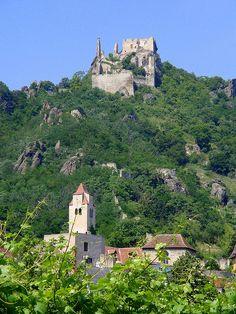 Durnstein castle where Richard the Lion Heart was held captive, Austria