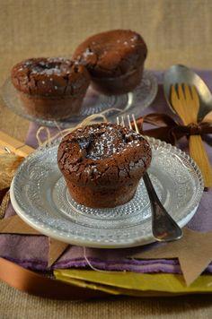 Moelleux au chocolat coeur coulant au caramel {recette facile et gourmande}