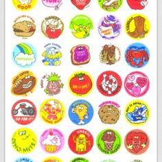 Scratch n sniff stickers! #90s