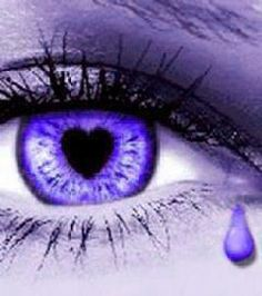 A purple eye... with a heart and a tear! Miss you Grandma Barb. Love and prayers for a cure