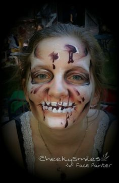 Zombie by CheekySmiles Face Painter Okc, Ok