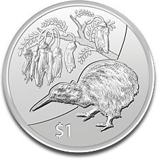 New Zealand Kiwi 1oz Silver Coin - First Silver Proof Coin     This modern bullion silver coin, the New Zealand Kiwi 1oz silver coin, was issued in 2012 as the first coin to start the series entitled Kiwi Treasures. It comes in Brilliant Uncirculated condition and has a face value of $1 and has already gained its popularity among investors and collectors. The Kiwi is also engraved on gold bullion coins issued also in 2012 for the series with the same name....