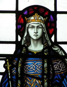 Queen or Saint Stained Glass Window.