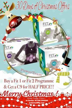 Wow 30 days of fabulous Christmas shopping bagging your free Xmas gifts and today's offer is the cherry on the cake!! Whether for now or in time for a fresh new you…  Buy your 30 day FIT programme and purchase a C9 cleanse half price saving you a massive £55!!! #giftyourself #30daysofxmas #ad #FIT